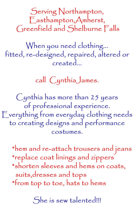 Cynthia James seamstress